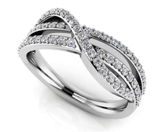 18K Gold and 0.46 Carat F Color and VS Clarity Diamond Fashion Ring