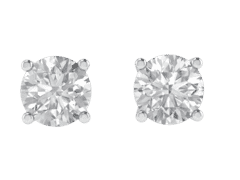 Classic Four Prong Diamond Studs In 18KT Gold