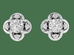 Tulip Diamond Studs In 18KT Gold