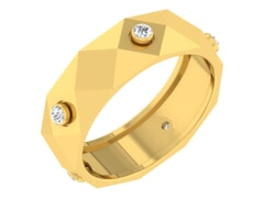18KT Gold and 0.07 Carat F Color VS Clarity Diamond Ring