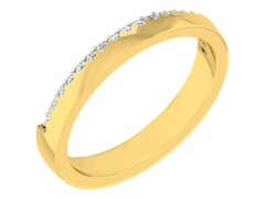 18KT Gold and 0.21 Carat F Color VS Clarity Diamond Ring