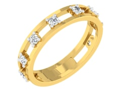18KT Gold and 0.28 Carat F Color VS Clarity Diamond Ring