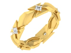 18KT Gold and 0.17 Carat F Color VS Clarity Diamond Ring