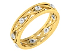18KT Gold and 0.11 Carat F Color VS Clarity Diamond Ring