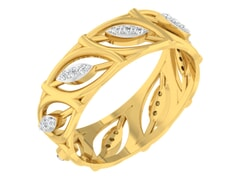 18KT Gold and 0.12 Carat F Color VS Clarity Diamond Ring