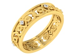 18KT Gold and 0.04 Carat F Color VS Clarity Diamond Ring