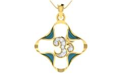 Gold and 0.11 Carat Diamond Pendant