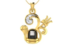 Gold and 0.07 Carat Diamond Pendant
