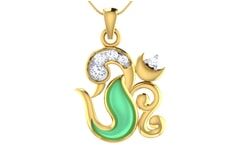 Gold and 0.13 Carat Diamond Pendant