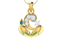 Gold and 0.12 Carat Diamond Pendant