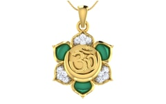 Gold and 0.16 Carat Diamond Pendant