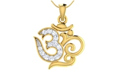 Gold and 0.18 Carat Diamond Pendant