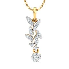 18K Gold Pendant and 0.31 carat Diamonds