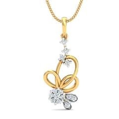 18K Gold Pendant and 0.23 carat Diamonds