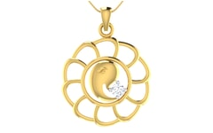 Gold and 0.06 Carat Diamond Pendant