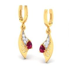 18K Gold Earring and 0.10 carat Diamond