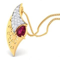 18K Gold Pendant and 0.22 carat Diamonds