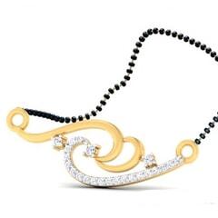 18K Gold Pendant and 0.24 carat Diamonds