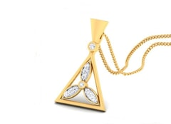 18K Gold Pendant and 0.17 carat Diamonds