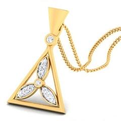 18K Gold Pendant and 0.17 carat Diamonds