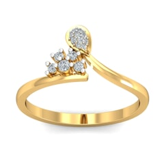 18KT Gold and 0.16 Carat F Color VS Clarity Diamond Ring