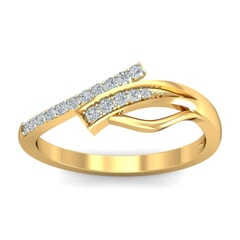 18KT Gold and 0.15 Carat F Color VS Clarity Diamond Ring
