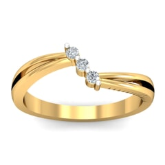 18KT Gold and 0.08 Carat F Color VS Clarity Diamond Ring