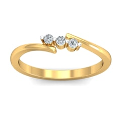 18KT Gold and 0.09 Carat F Color VS Clarity Diamond Ring